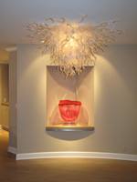 Flush Mounted Crystal Chandelier