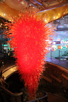 Large Red Chandelier:  22 feet tall, 12 feet wide, weighs 2.5+ Tons