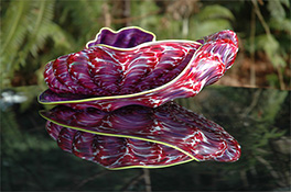 Purple Barnacle Glass Art Nesting Sets by Robert Kaindl