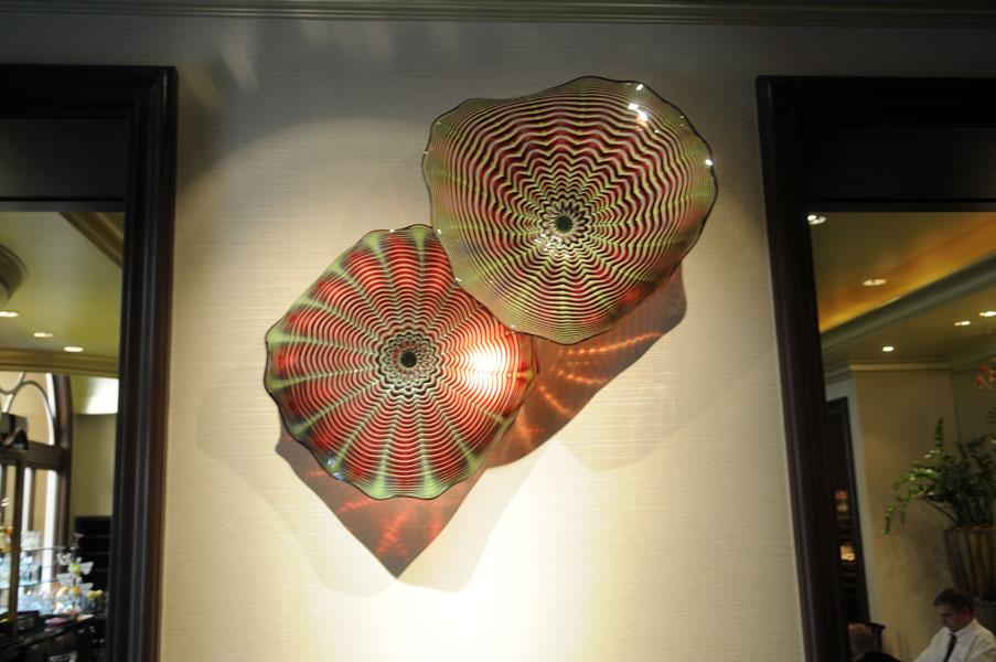 Beverly Hills Four Seasons Art Glass Wall Sconces