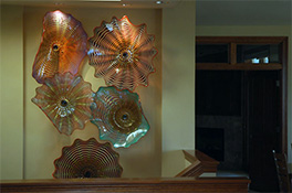 Wall SeaShapes Art Glass by Robert Kaindl