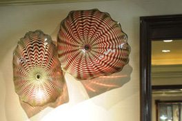 Wall SeaShapes Art Glass Sconces by Robert Kaindl